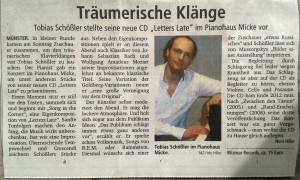 """""""Träumerische Klänge"""" -- Münstersche Zeitung, März 2013"""